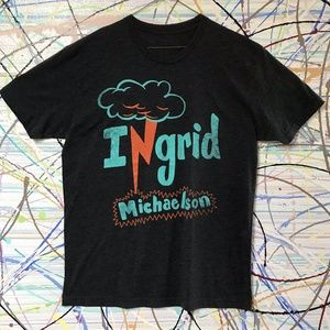 Ingrid Michaelson graphic cotton poly grey T-shirt